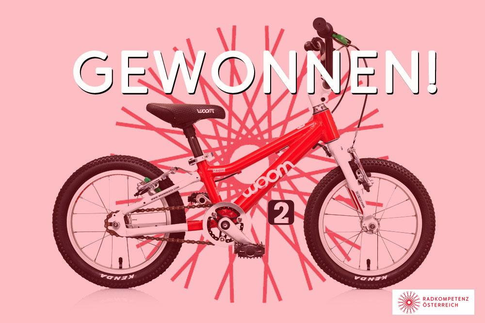 Das WOOM-Kinderrad hat seinen Gewinner gefunden!