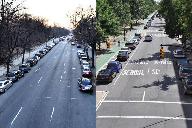prospectparkwest_Before-and-After_c_NYCDOT