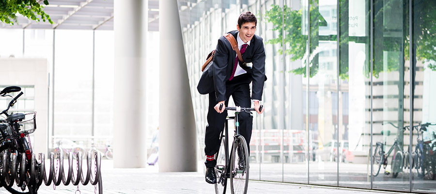 Company bicycle instead of company car