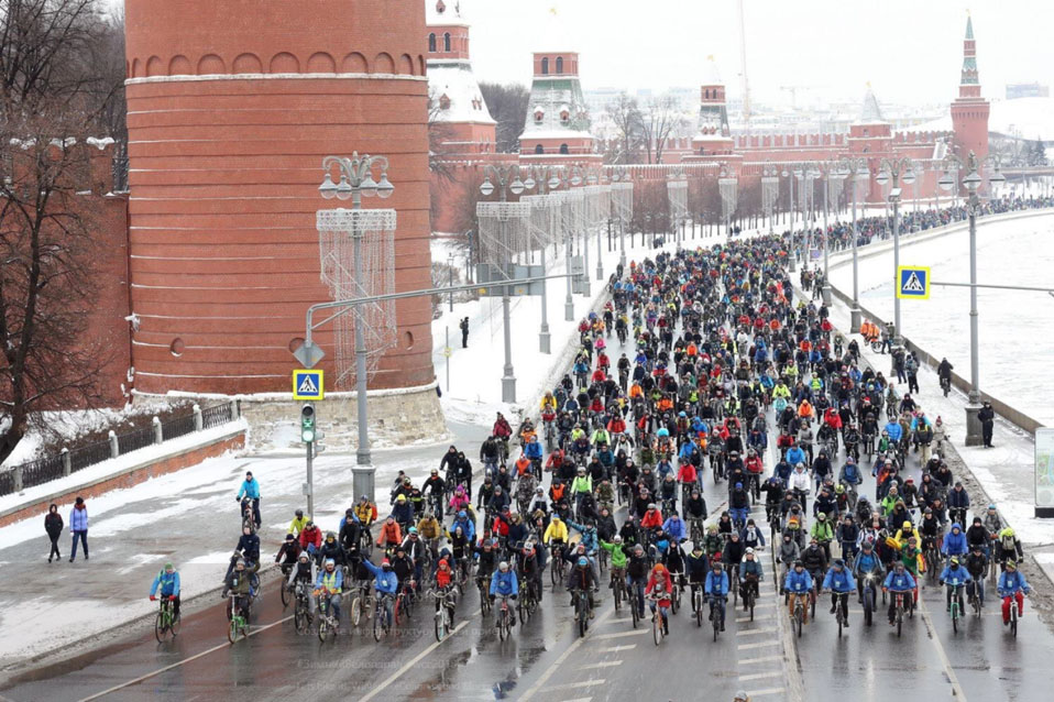 Winter Cycling Congress in Moskau
