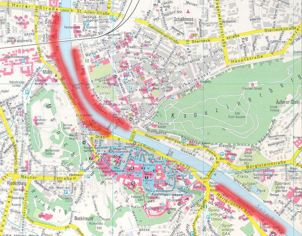 Die Stadt Salzburg bekommt drei Fahrradstraßen