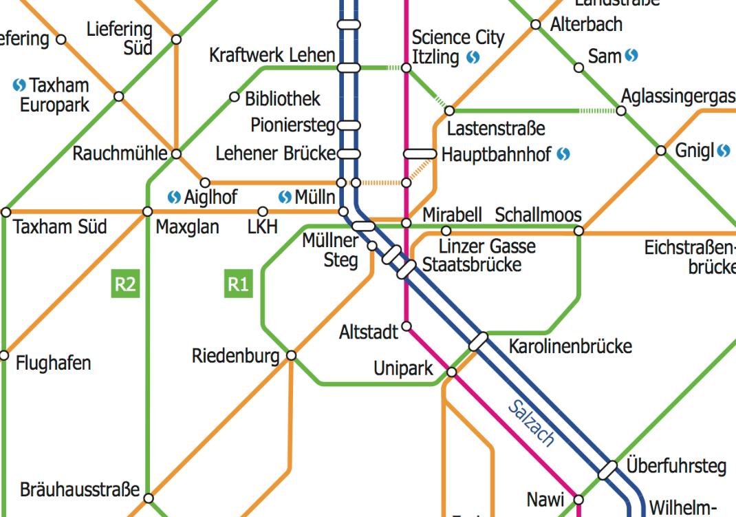 Erster Blick auf das neue Radhauptnetz Salzburg