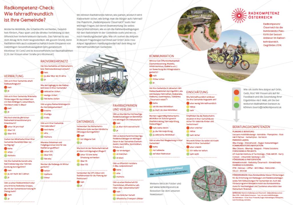 Radkompetenz-Befragung: Wie radfreundlich ist Ihre Gemeinde?