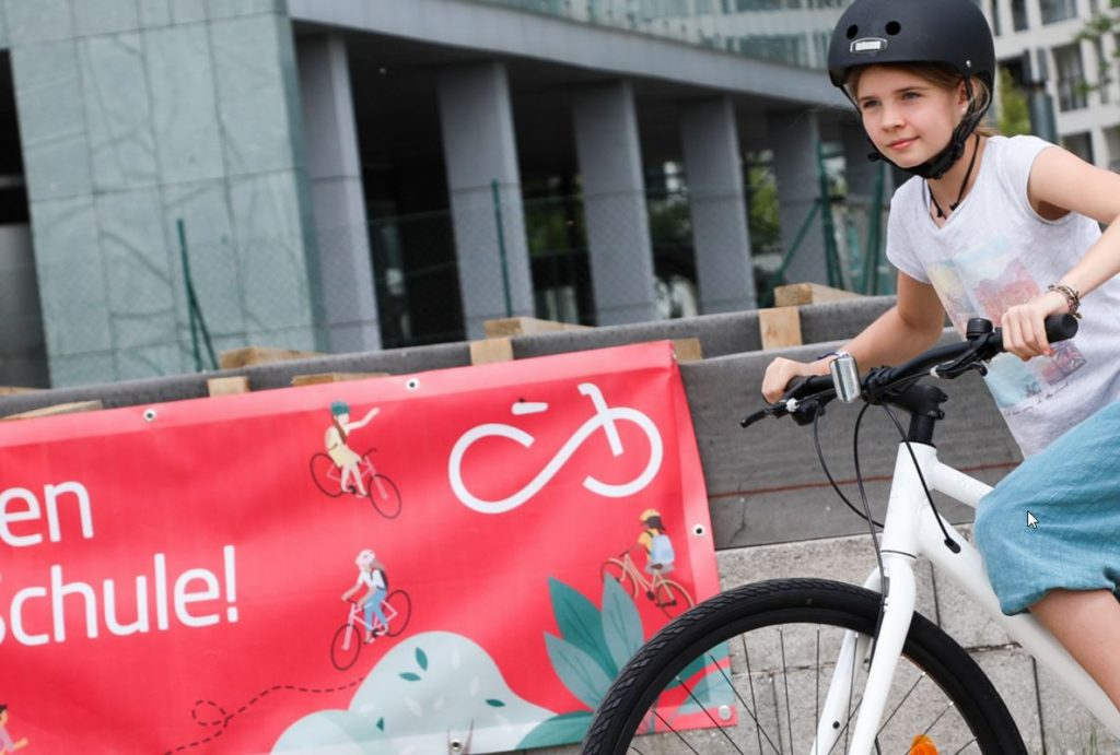 Vienna got its first activity park for cycling with open kids training