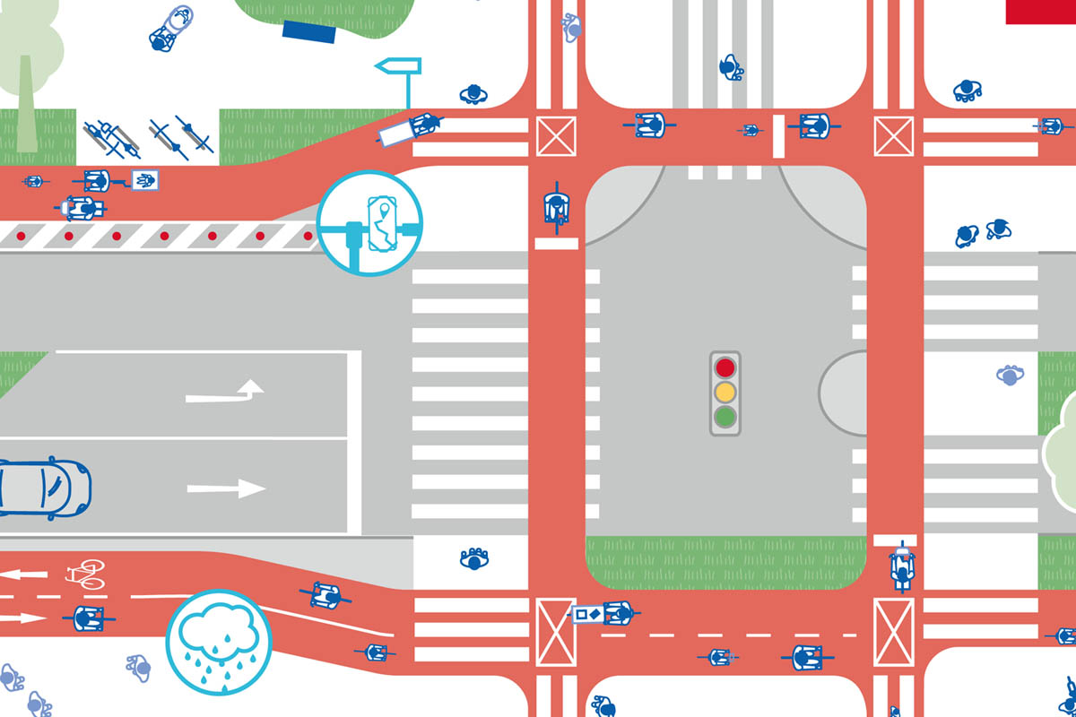 Our model cycling city to take away